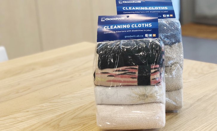 Roundhouse Marketplace Goodwill Cleaning Cloths